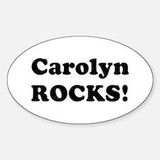 Carolyn Rocks! Oval Decal
