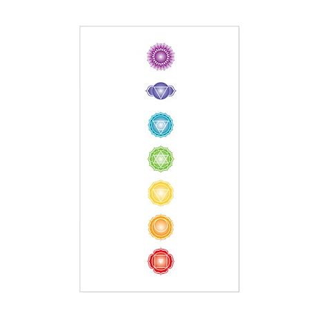 7 chakras Rectangle Sticker