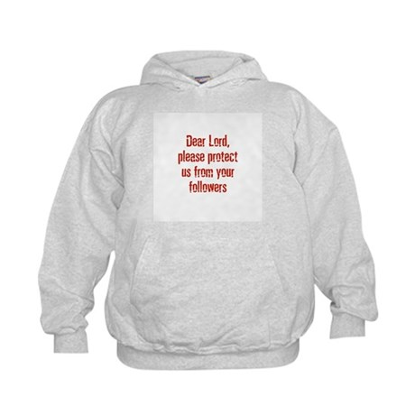 Dear Lord, please protect us Kids Hoodie