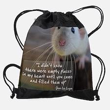 Cute Fancy rat Drawstring Bag
