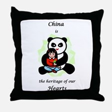 China Is The Heritage Of Our  Throw Pillow