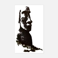 Easter Island Head Rectangle Decal
