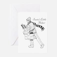 Santa's Little Helper Greeting Cards (Pack of 6)