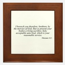 Romans 12:1 Framed Tile