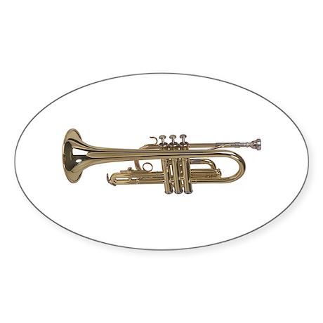 Trumpet Oval Sticker