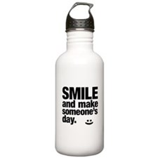 Smile and make someone's day. Water Bottle