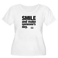 Smile and make someone's day. Plus Size T-Shirt