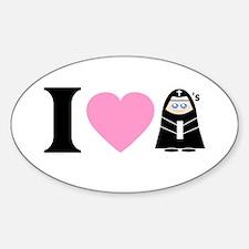 I Heart Nuns Oval Decal