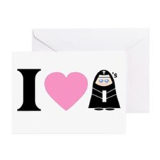 I Heart Nuns Greeting Cards (6)