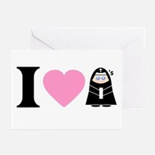 I Heart Nuns Greeting Cards (6)