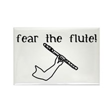 Fear the Flute Rectangle Magnet