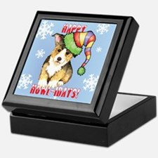 Holiday Corgi Keepsake Box