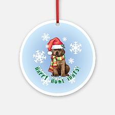 Holiday Labrador Ornament (Round)