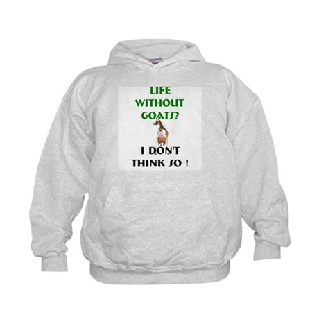 GOATS-Life Without Toggenburg Kids Hoodie