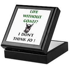 GOATS-Life Without Pygmy Goat Keepsake Box