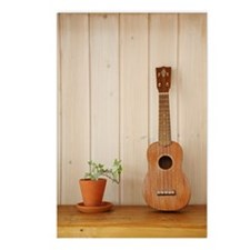 Ukulele and Plant Pot on  Postcards (Package of 8)