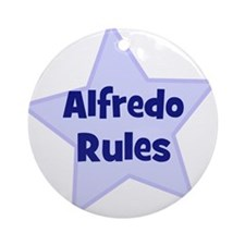 Alfredo Rules Ornament (Round)