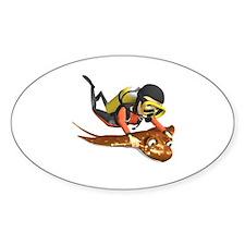 Killer Stingrays Oval Decal