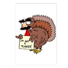 I am not a Turkey Postcards (Package of 8)