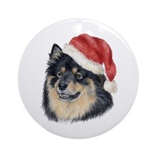 Christmas Finnish Lapphund Ornament (Round)