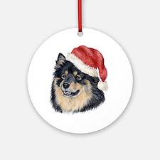 Christmas Finnish Lapphund Ornament (Round)