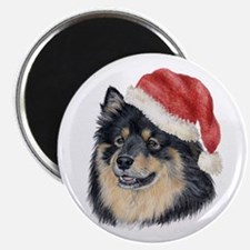 Christmas Finnish Lapphund Magnet