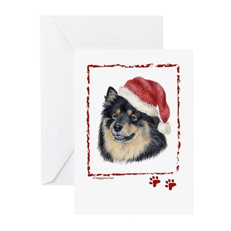 Merry Christmas Finnish Lapphund Greeting Cards