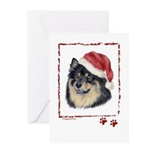happy Holidays Finnish Lapphund Greeting Cards