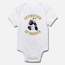 Extinction is Forever Panda Infant Bodysuit