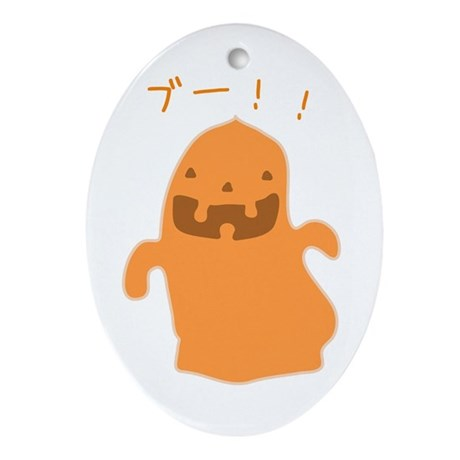 Japanese Halloween Oval Ornament
