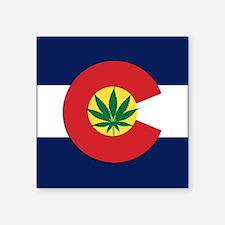 Colorado State Pot Flag Sticker