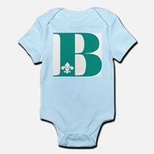 B Initial with fleur Body Suit