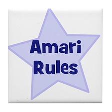 Amari Rules Tile Coaster
