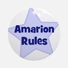 Amarion Rules Ornament (Round)