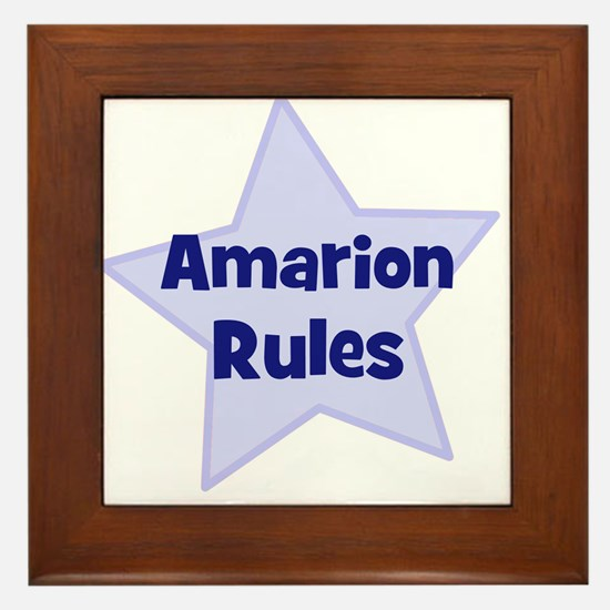 Amarion Rules Framed Tile