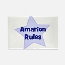Amarion Rules Rectangle Magnet
