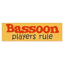 Bassoon Players Rule Bumper Bumper Sticker