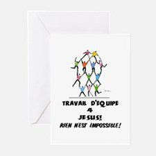 French: Teamwork! Greeting Cards (Pk of 10)