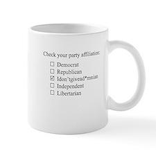 The Idontgivead*mnian party Small Mugs
