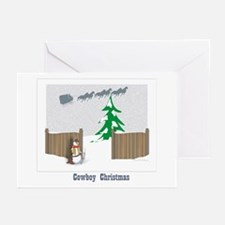 Cowboy Christmas Greeting Cards (Pk of 10)