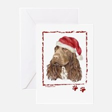 Happy Holidays Field Spaniel Greeting Cards
