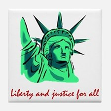 Liberty & Justice for All Tile Coaster