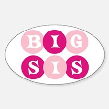 Big Sis Circles Oval Decal