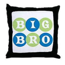 Big Bro Circles Throw Pillow