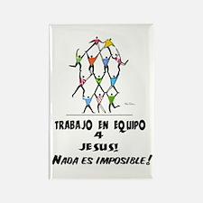 Spanish: Teamwork! Rectangle Magnet