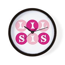 Lil Sis Circles Wall Clock