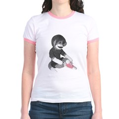 Pink Ribbon Cherry Jr. Ringer T-Shirt