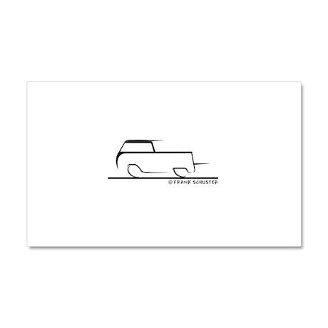 Speedy Crew Cab Car Magnet 20 x 12