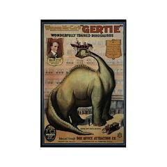 10 Gertie the Dinosaur Paleo Rectangle Magnets