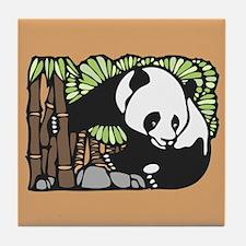 Bamboo and Panda Tile Coaster